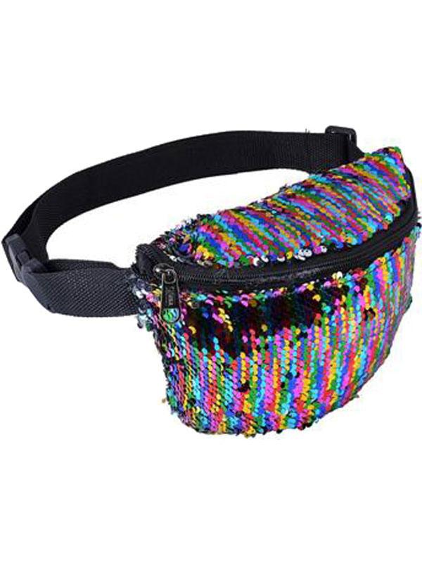 Adult Bum Bag - Multi-Colour Sequin