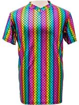 Adult Mens T-Shirt - Scale Rainbow