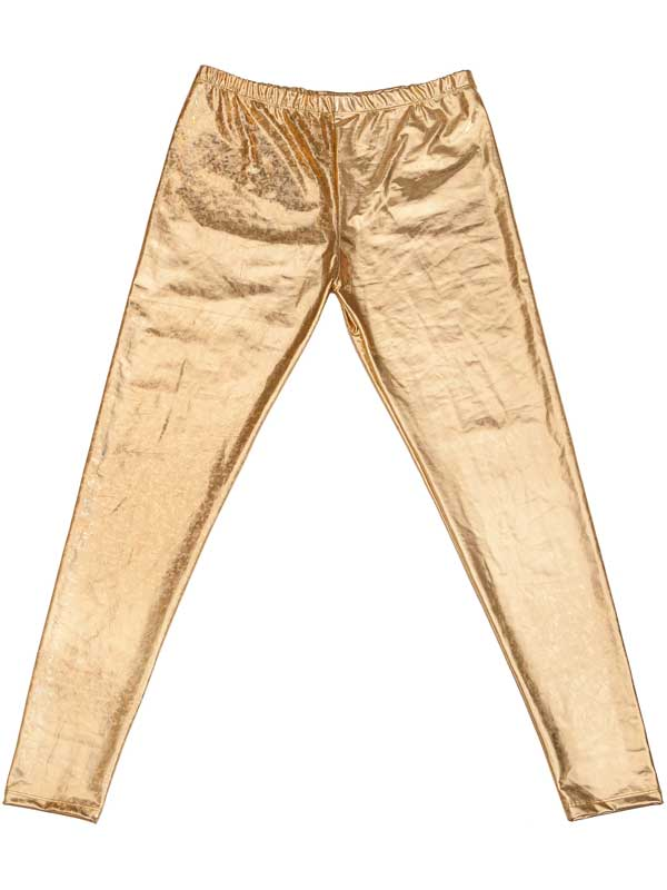 Adult Mens Leggings - Gold
