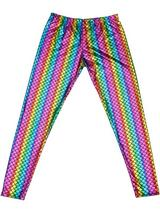 Adult Mens Leggings - Scale Rainbow