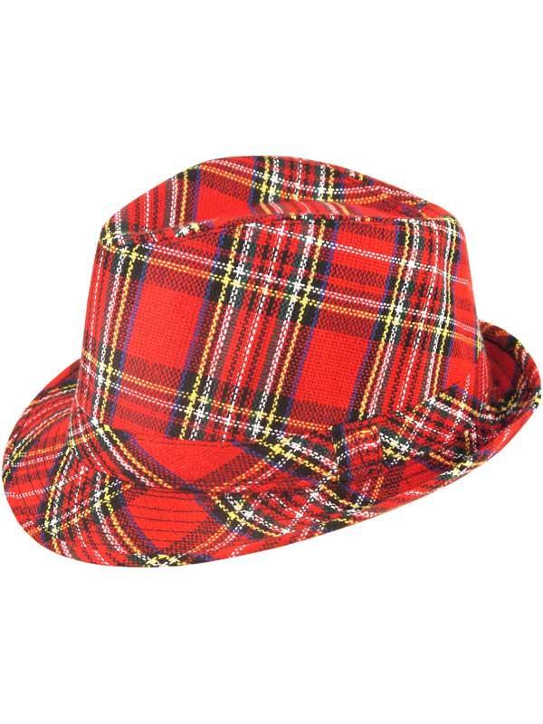 Adult Trilby Hat Tartan 27cm