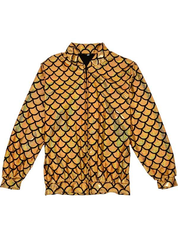 Adult Scale Gold Holographic Jacket
