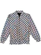 Adult Scale Silver Holographic Jacket