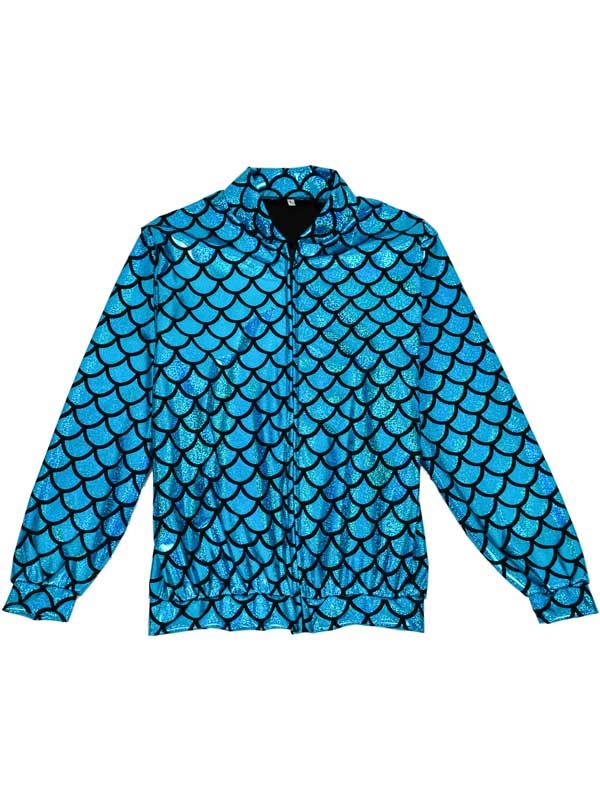 Adult Scale Turquoise Hollographic Jacket