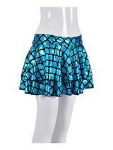 Adult Ladies Skirt - Scale Turquoise