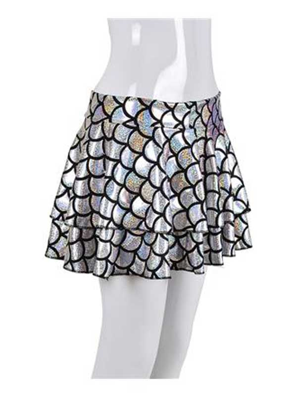 Adult Ladies Skirt - Scale Silver
