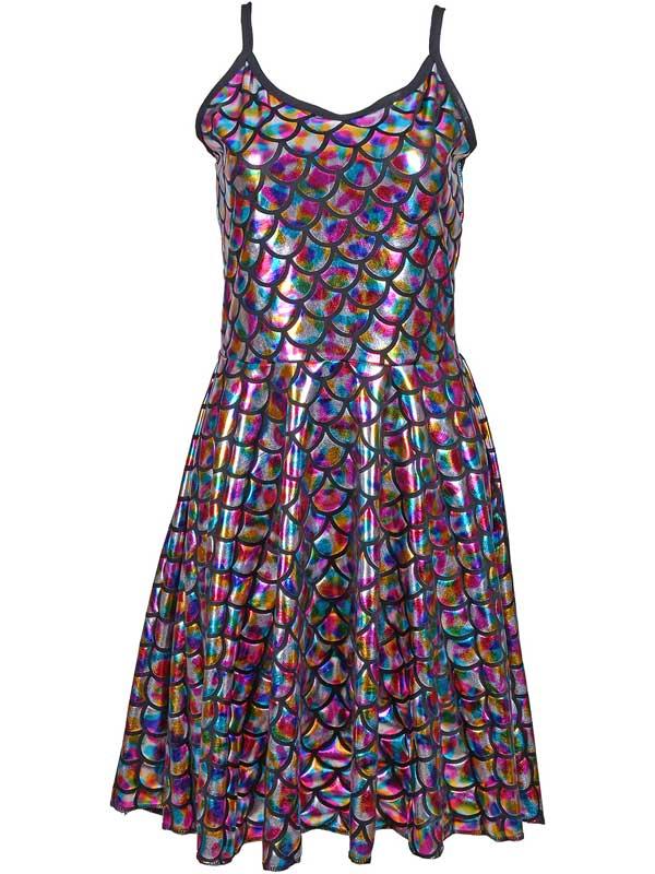 Adult Ladies Dress - Scale Rainbow