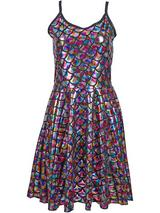 Adult Ladies Dress - Scale Rainbow