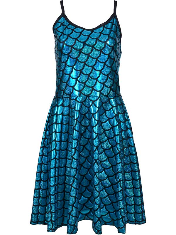 Adult Ladies Dress - Scale Turquoise