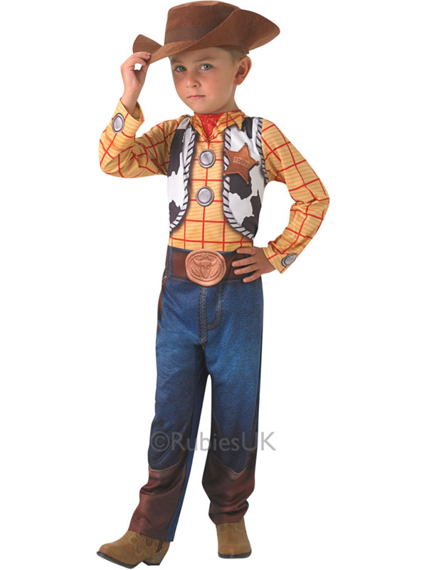 Enfant-Disney-Toy-Story-Woody-nouveau-costume-robe-  sc 1 st  eBay & Child Disney Toy Story Woody New Fancy Dress Costume u0026 Hat Pixar ...