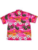Adult Pink Hawaiian Shirt - Palm Trees