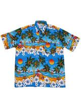 Adult Blue Hawaiian Shirt - Beetle Cars
