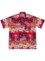 Adult Pink Hawaiian Shirt - Beetle Cars