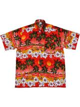 Adult Red Hawaiian Shirt - Beetle Cars