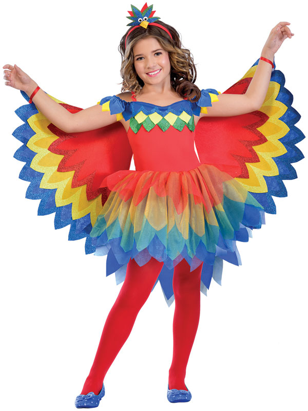 Child Girls Pretty Parrot Fairy Costume