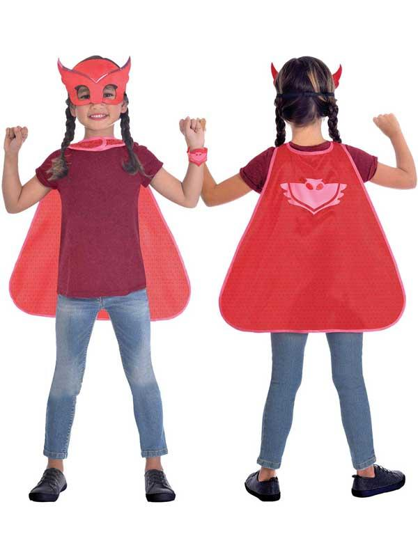 Child Owlette Cape & Mask Set