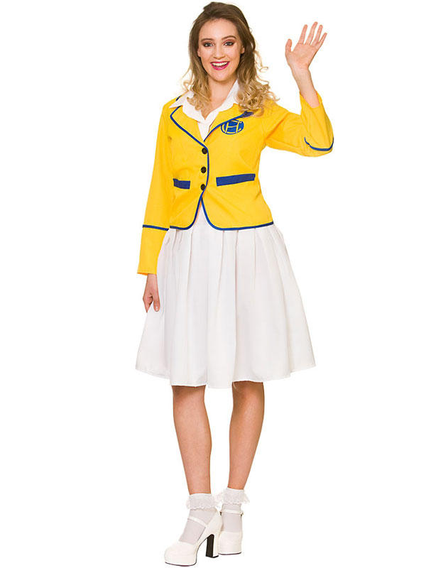 Ladies Yellow Holiday Camp Costume