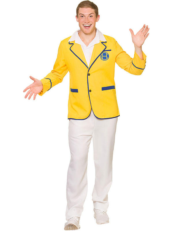 Mens Yellow Holiday Camp Costume