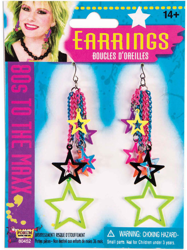 Adult 80s Star Earrings