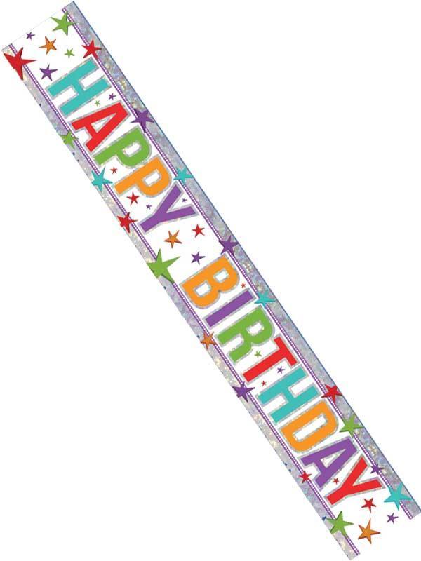 Happy Birthday Foil Multi Colour Banner