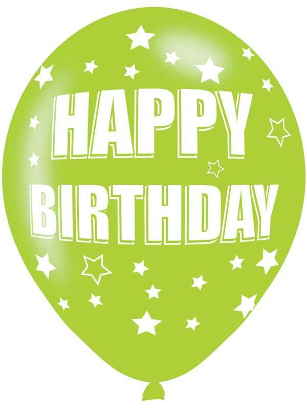 Happy Birthday Latex Balloons 6 Pack Thumbnail 2