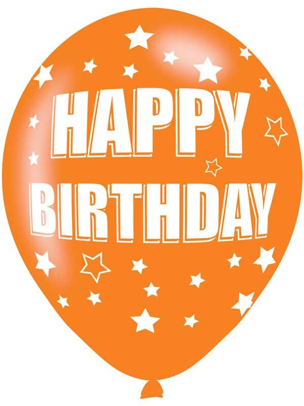 Happy Birthday Latex Balloons 6 Pack Thumbnail 3