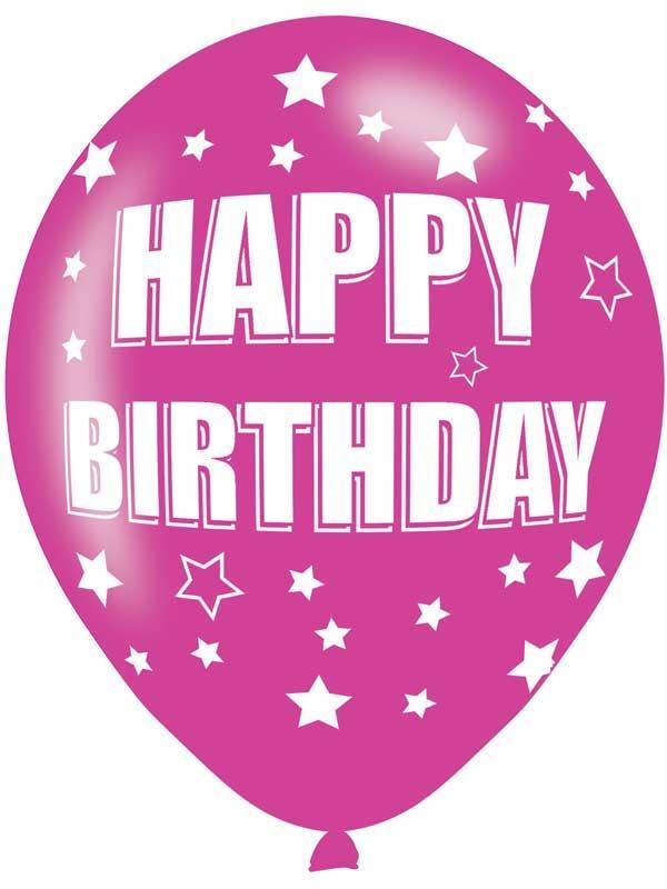 Happy Birthday Latex Balloons 6 Pack Thumbnail 4