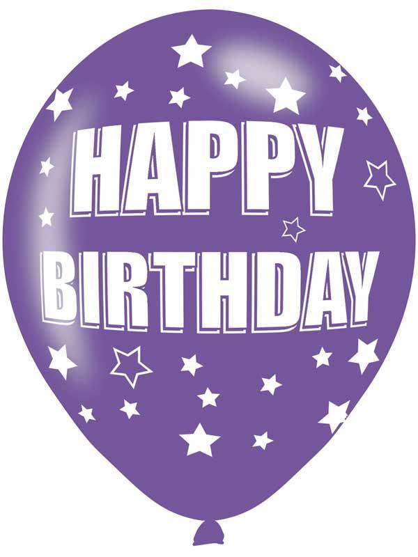 Happy Birthday Latex Balloons 6 Pack Thumbnail 5