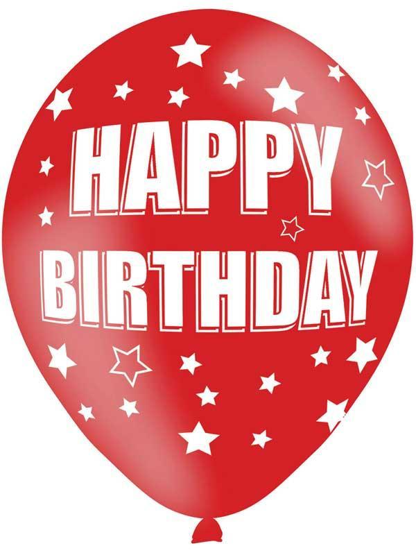 Happy Birthday Latex Balloons 6 Pack Thumbnail 6