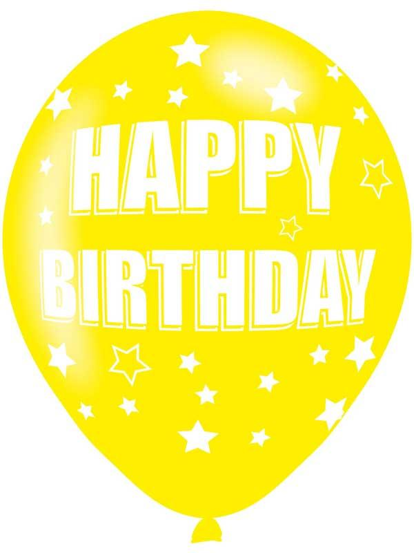 Happy Birthday Latex Balloons 6 Pack Thumbnail 7