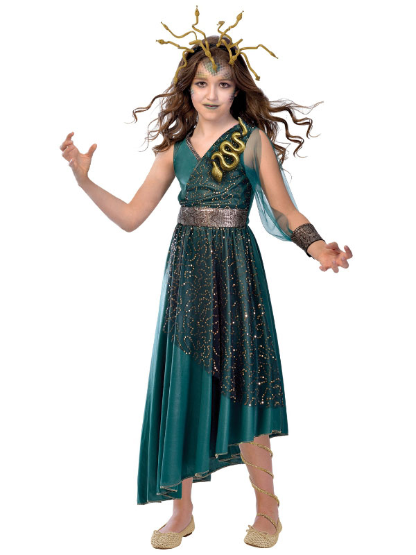 child girls medusa new fancy dress costume halloween