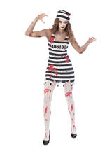 Adult Ladies Zombie Convict Costume