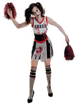 Adult Ladies Zombie Cheerleader Costume