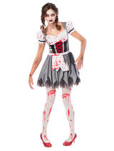 Adult Ladies Oktoberfest Zombie Costume Dress
