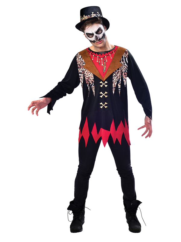 Adult Mens Witch Doctor Costume & Hat
