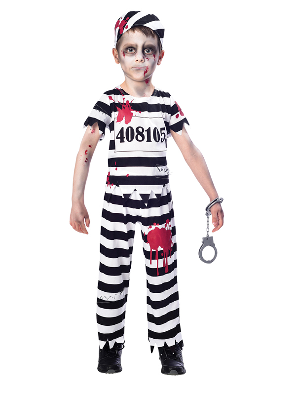 Child Boys Zombie Convict Costume