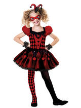 Child Girls Harlequin Cutie Costume