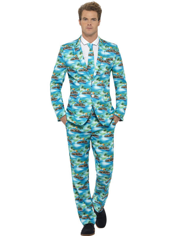 Adult Mens Stand Out Aloha Suit Thumbnail 1