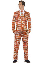 Adult Mens Stand Out Off The Wall Brick Suit