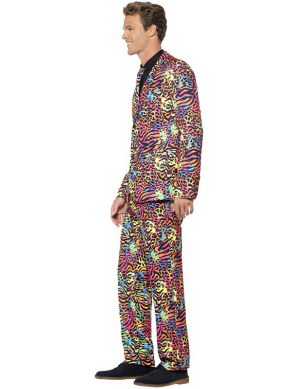 Adult Mens Stand Out Neon Print Suit Thumbnail 2
