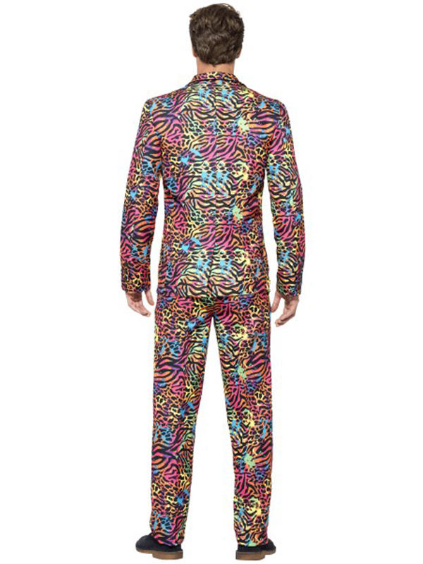 Adult Mens Stand Out Neon Print Suit Thumbnail 3
