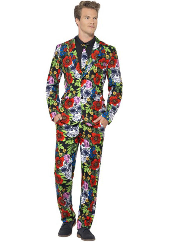 Adult Mens Stand Out Day Of The Dead Suit