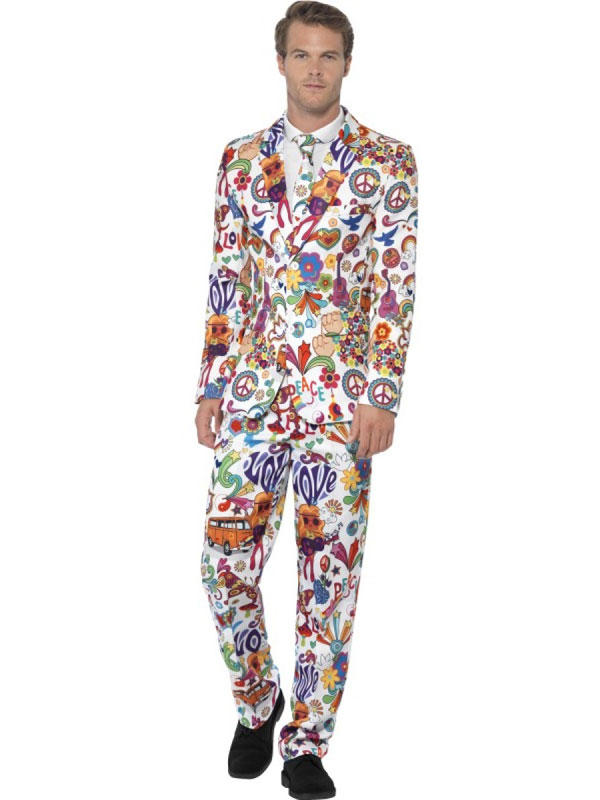 Adult Mens Stand Out Groovy Suit Costume Thumbnail 1