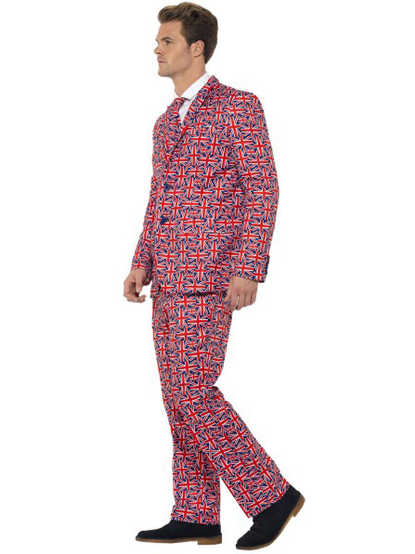 Adult Mens Stand Out Union Jack Suit Costume Thumbnail 2