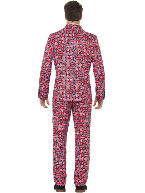 Adult Mens Stand Out Union Jack Suit Costume Thumbnail 3
