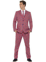 Adult Mens Stand Out Union Jack Suit Costume