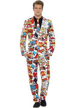 Adult Mens Stand Out Comic Strip Suit Costume