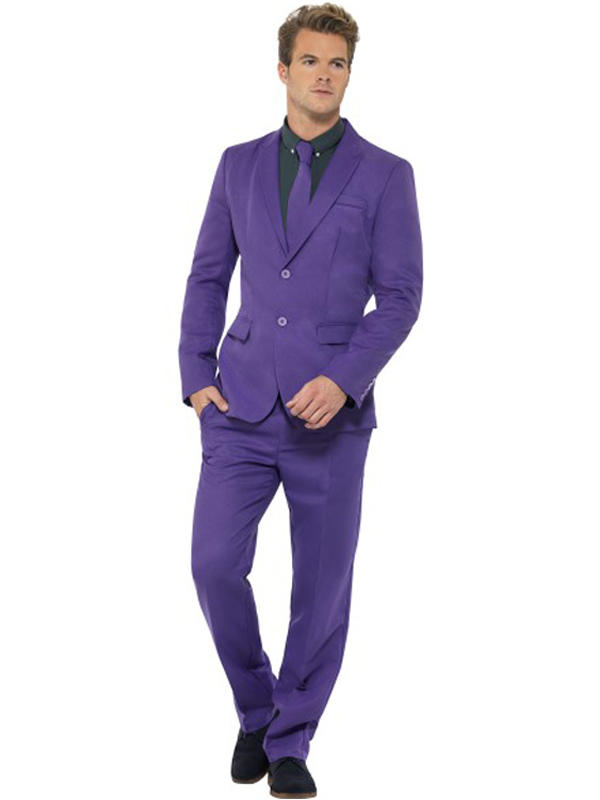Adult Mens Stand Out Purple Suit Costume