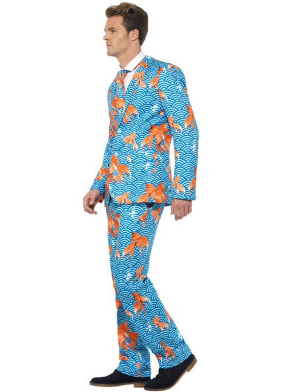 Adult Mens Stand Out Goldfish Suit Costume Thumbnail 2