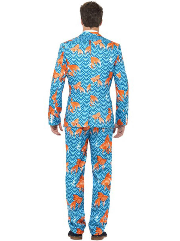 Adult Mens Stand Out Goldfish Suit Costume Thumbnail 3